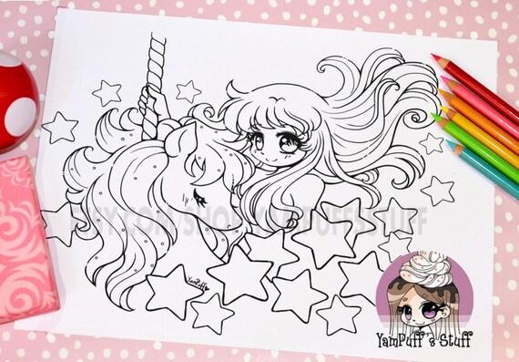Starlight Carousel Ride - Clip Art - Digital Stamp - Instant Download