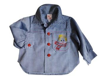 blouse label boy vintage, 70s