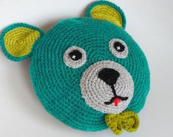 large crochet floor pillow huge round carpet large toy. Black Bedroom Furniture Sets. Home Design Ideas