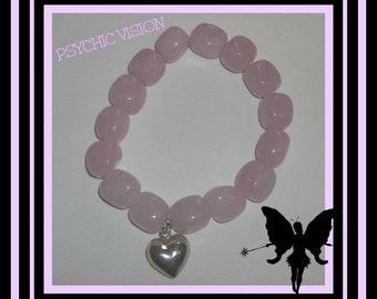 Rose Quartz Bracelet/Chunky Rose Quartz Bracelet/Fertility Bracelet/Crystal Bracelet/Pink Bracelet/Healing Crystal Bracelet/Love Bracelet