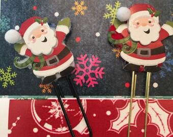 Christmas Santa Claus Paper Clip /Passion Planner, Erin Condren, Filofax, planner stickers, Christmas