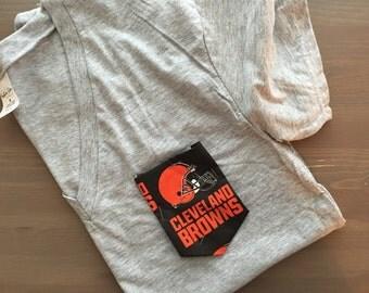 Pocket Tee with NFL pocket, Cleveland Browns
