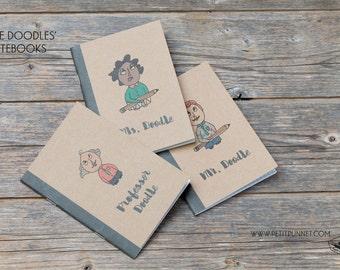 Set of 3 Pocket Notebooks: 'The Doodles' Notebooks