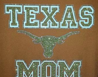 Texas Longhorn tshirts, Longhorn Shirt, Longhorn bling shirt,