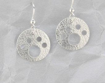 Silver dog paw earrings, Sterling Silver, paw earrings, dog lover gift
