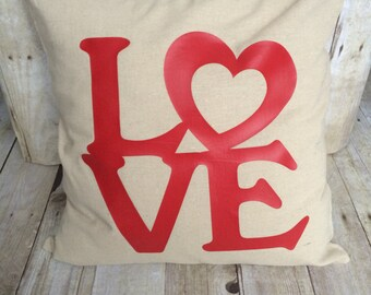 Love pillow, valentine pillow, love pillow cover, valentine's day, valentine's day gift, valentine's day pillow, pillow cover