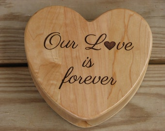 Laser Engraved Wooden Heart Shaped Box - Jewelry Box - Keepsake Box - Gift Idea - Laser Engraved Gift