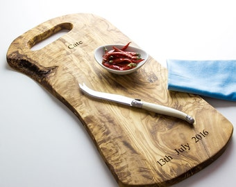 "Personalized 16.5"" (42cm) Rustic Chopping Board"