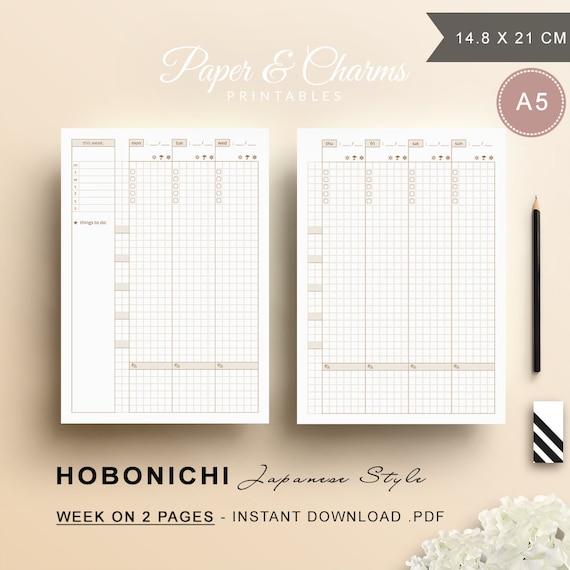 Hobonichi Printable Planner Weekly Planner Printable