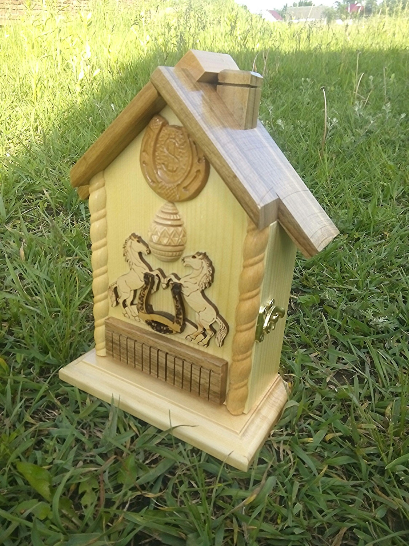 Key holder Wooden key cabinet Handmade key holder Locker Key house ...