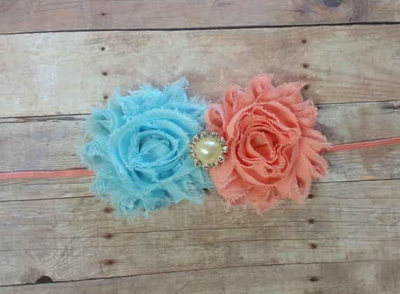 Baby Head Bands, Baby Gril Bows, Coral Headband, Baby Blue headband, Babies Headbands, Hair headbands, Headband Girl, Toddler Headband, Bows
