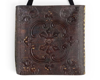 Ancient Leather Book Cover Tote Bag Original Design