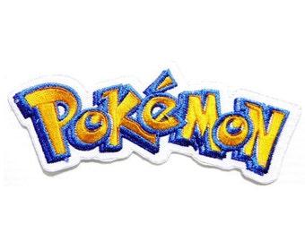 Pokemon Patch Logo Embroidered Iron on Badge Applique Costume Cosplay Souvenir Collectible Retro Rare Game Boy Custom DIY Bag Hat Scarf