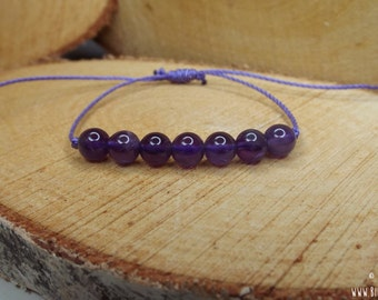 AMETHYST BRACELET – calms anxiety, emotional stability, heals loss, intuition, lucid dreaming, tranquilizer, overcomes addictions, sobriety