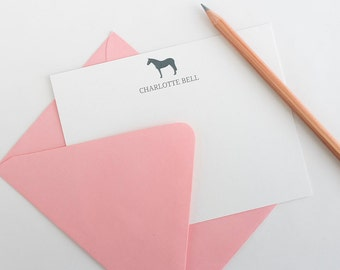 Personalized Stationery // Personalized Stationary // Equestrian Stationery // Horse Stationery // Stationery Set // Custom Stationary