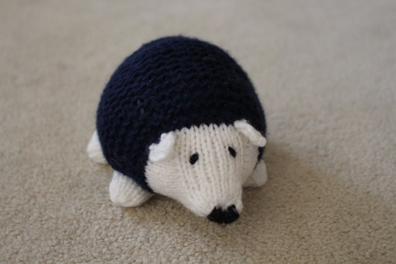 Stuffed Hedgehog Knitting Pattern : Knit Stuffed Hedgehog PROTOTYPE