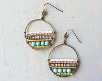 Sioux Falls gypsy beaded hoops