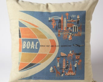 BOAC Throw Pillow 18x18""