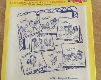 Retro Aunt Martha's Barnyard Romance Hot Iron Transfers AM07