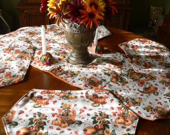 Fall Harvest Table Runner and Placemat Set (4)