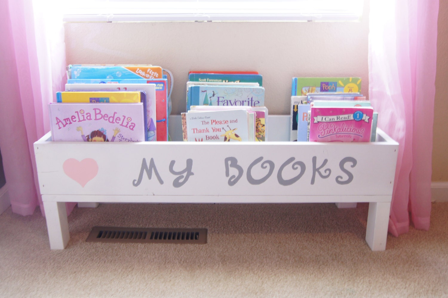 Baby Bedroom In A Box Special: Nursery Book Shelf Baby Nursery Storage Bin Kids Storage