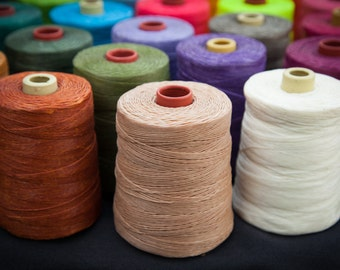 2 x 600m spools waxed cotton cord - Combine shipping! Dutchies Delights