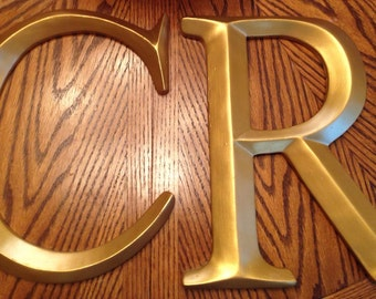 Large wall letters, Picture wall letter, Large single letter, Initials, Gold letters, Any color