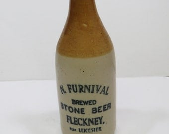 N. Furnical Brewed Stone Beer Bottle STONEWARE from LEICESTER England