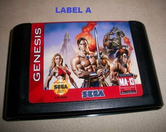 Golden Axe III 3 Sega Genesis Reproduction Game Region Check Bypassed
