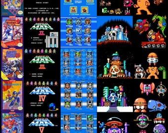 Mega Man NES compilation poster