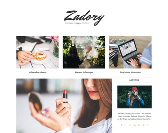 Zadory - Clean & Personal Blogger Blog Theme.