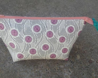 Open wide zipper pouch, make up bag,  zipper bag,  custom zipper pouch, custom make up bag