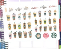 Starbucks Frozen Drink layout - for use with Erin Condren Life Planner Happy Planner Sticker Sheets