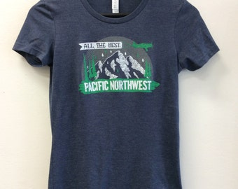 All the Best Pacific Northwest - T Shirt - Ladies' The Favorite T-Shirt - Heather Navy