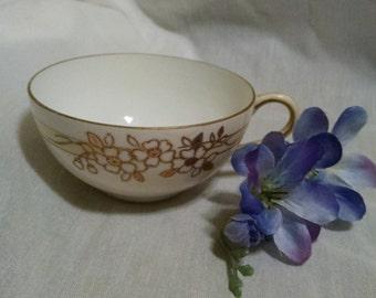Antique Gold Floral Tea cup