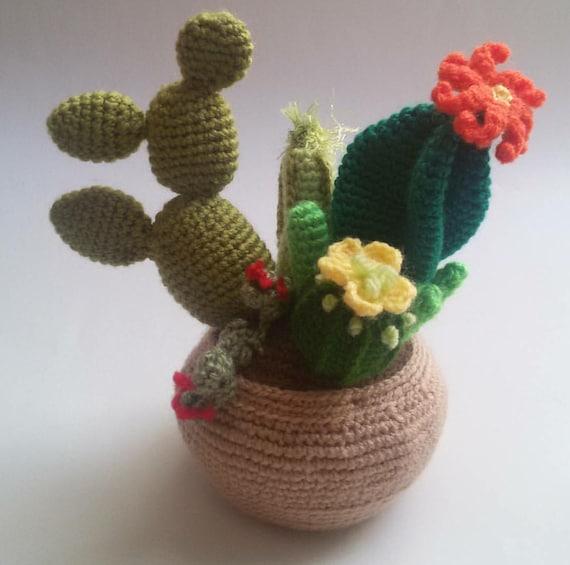 Tecnica Amigurumi Cactus : CACTUS Basket Amigurumi knitted toys