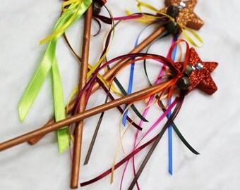 Hand-made glitter Fairy wands