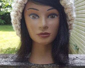 Chunky slouchy crochet hat