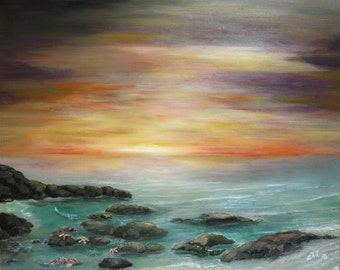 low tide at sunrise