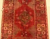 "Antique Rug Carpet, Handmade Rug Carpet, Vintage Rug Carpet, Area Rug Carpet, Turkish Rug Carpet Kilim, Red Floor Carpet, 152x102cm,60""x41"""