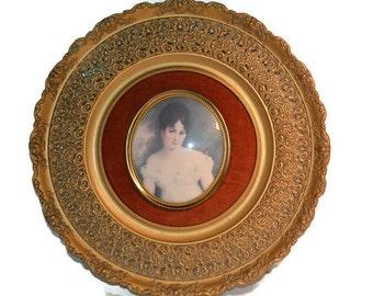 Cameo Wall Art, Cameo Creations, Madame Recamier, Gerardt, Victorian Wall Art, Large Cameo, Vintage Home Decor