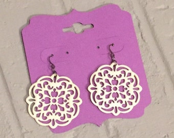 Cardstock Earring jewelry holder; shipping display; earring display; earring packaging; jewelry holders display