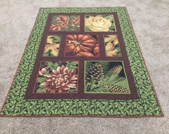 Picture Perfect Fall Quilted Throw or Wallhanging