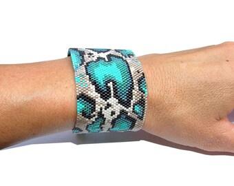 Python Peyote Bracelet