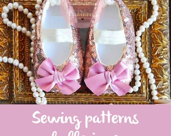Baby shoe sewing pattern PDF / newborn shoes with bow / girl sewing pattern / kids clothes girls / Shoe pattern 0m-12m / girls PINK shoes