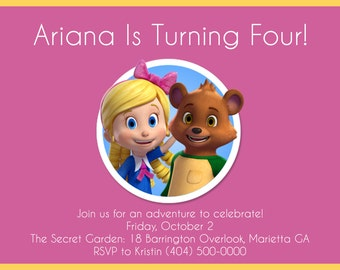 Party Invitation: Goldie & Bear