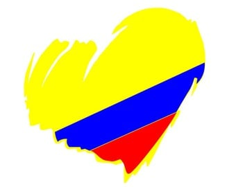 Colombian Heart Car sticker