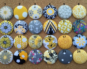 Grey and Yellow - Colorful Button Badge Reel - Nurse - RN