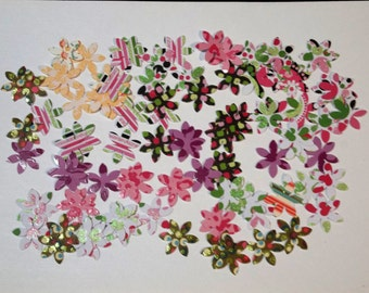 100 - Mini Flower  Die Cuts for Scrapbooking, Etc. - Lot 2