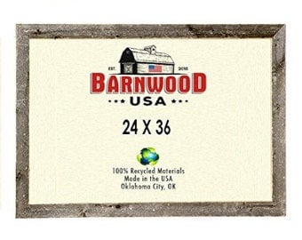 barnwood 24 x 36 rustic 2 inch picture frame weathered gray reclaimed wood photo frames